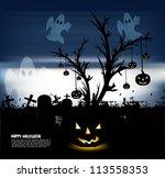 abstract bright dark blue... | Shutterstock .eps vector #113558353