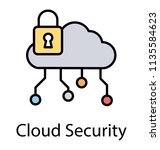 flat icon representing cloud...   Shutterstock .eps vector #1135584623