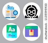 simple 4 icon set of book... | Shutterstock .eps vector #1135595933