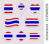 thailand flag vector set. thai... | Shutterstock .eps vector #1135608233