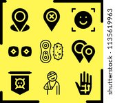 simple 9 icon set of human...   Shutterstock .eps vector #1135619963