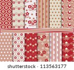 abstract floral vector set of... | Shutterstock .eps vector #113563177