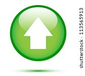 Arrow Up On Green Button
