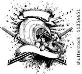 wave samurai emblem | Shutterstock .eps vector #11356651