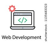 a html source code on website... | Shutterstock .eps vector #1135683323