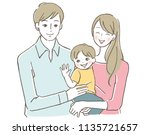 smiling happy family | Shutterstock .eps vector #1135721657
