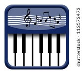 piano keyboard icon with... | Shutterstock . vector #113573473