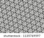 ornament with elements of black ... | Shutterstock . vector #1135769597