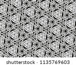 ornament with elements of black ... | Shutterstock . vector #1135769603