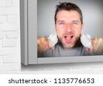 young happy and attractive man...   Shutterstock . vector #1135776653