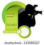 green vector abstract...   Shutterstock .eps vector #113580127