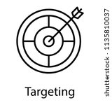 target and dart is shown to... | Shutterstock .eps vector #1135810037
