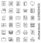 thin line vector icon set  ... | Shutterstock .eps vector #1135820423