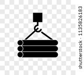 tubes hook vector icon on... | Shutterstock .eps vector #1135826183