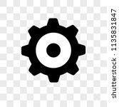 settings vector icon on... | Shutterstock .eps vector #1135831847