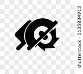 circular saw vector icon on... | Shutterstock .eps vector #1135834913