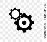 settings vector icon on... | Shutterstock .eps vector #1135834943