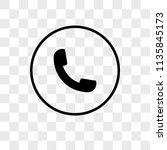 auricular phone vector icon on... | Shutterstock .eps vector #1135845173