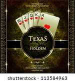 a royal flush playing cards... | Shutterstock .eps vector #113584963