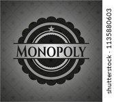 monopoly dark emblem. retro | Shutterstock .eps vector #1135880603