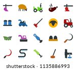 colored vector icon set   field ... | Shutterstock .eps vector #1135886993