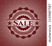 sale red emblem. retro | Shutterstock .eps vector #1135887587