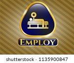 golden emblem or badge with... | Shutterstock .eps vector #1135900847