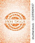 hot dogs abstract emblem ... | Shutterstock .eps vector #1135900937