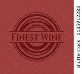 finest wine red emblem. retro | Shutterstock .eps vector #1135912283