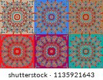 bright  colorful patterns on a... | Shutterstock .eps vector #1135921643