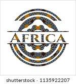 africa arabesque emblem. arabic ... | Shutterstock .eps vector #1135922207