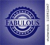fabulous emblem with jean... | Shutterstock .eps vector #1135922447