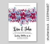 floral wedding invitation or... | Shutterstock .eps vector #1135946687