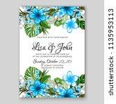wedding invitation floral...   Shutterstock .eps vector #1135953113