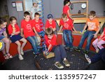 children on vacation children's ... | Shutterstock . vector #1135957247