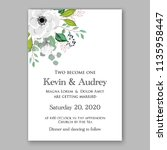 floral wedding invitation...   Shutterstock .eps vector #1135958447