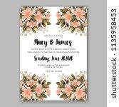 floral wedding invitation...   Shutterstock .eps vector #1135958453