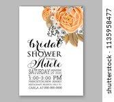 floral wedding invitation...   Shutterstock .eps vector #1135958477