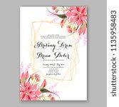 floral wedding invitation...   Shutterstock .eps vector #1135958483