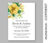 floral wedding invitation...   Shutterstock .eps vector #1135958507