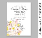 floral wedding invitation...   Shutterstock .eps vector #1135958513