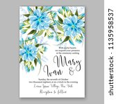 floral wedding invitation...   Shutterstock .eps vector #1135958537