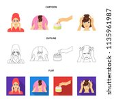 cosmetic  salon  hygiene  and...   Shutterstock .eps vector #1135961987