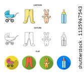 stroller  bottle with a... | Shutterstock .eps vector #1135967543