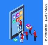 mobile app data construction | Shutterstock .eps vector #1135973303