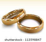 Gold wedding rings. Vector illustration - stock vector