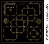 vector set of calligraphic... | Shutterstock .eps vector #1136006207