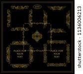 vector set of calligraphic... | Shutterstock .eps vector #1136006213