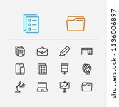 office icons set. case and...