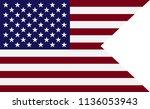flag of america  usa.symbol of... | Shutterstock .eps vector #1136053943